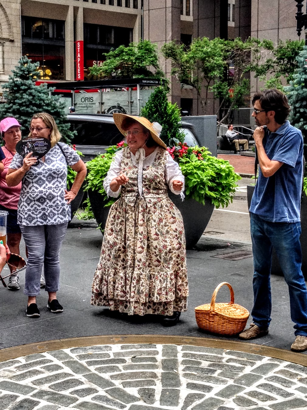 A costumed tour guide in Boston